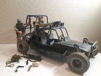 "G.I Joe Jeep Buggy G.I.Joe Vehicle 24""  Hasbro 2000 - with 2 g.i joes and acces."