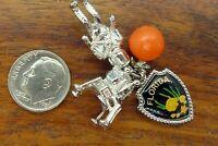 Vintage silver FLORIDA ORANGE LUNAR LANDER ASTRONAUT CANAVERAL charm CHARMS LOT