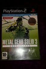 METAL GEAR SOLID 3 SUBSISTENCE PS2 PLAY STATION 2 PAL ESPAÑA COMPLETO LEER BIEN