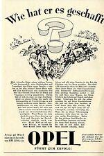 OPEL FÜHRT ZUM ERFOLG - Wie hat er es gechafft ?- Historische Reklame von 1929