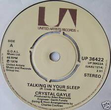"GRYSTAL GAYLE - Talking In Your Sleep - Ex 7"" Single"