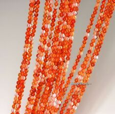 3MM CARNELIAN RED AGATE GEMSTONE RED ROUND 3MM LOOSE BEADS 16""
