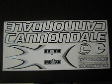 Cannondale Stickers  White, Black & Silver.
