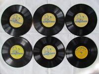 "Lot of 6 Children's Classics, Columbia 7"" vinyl 78 RPM vinyl"
