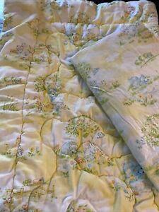 DUNDEE Mills Country Sunshine 1978 Crib zippered quilt & sheet Yellow Blue Bear