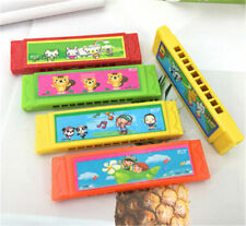 Kids Cartoon Plastic Harmonica Toy Fun Musical Early Educational Gift Toy 1PC