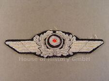 95548 Luftwaffe: Schirmmützenschwinge für Offiziers Schirmmütze, handgestickt