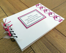 love hearts themed scrapbook, valentine or christmas gift, can be personalised