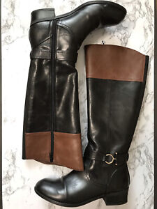 Aubrey Lynn Boots, Riding Boots, 8.5 , Black and brown