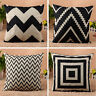 Vintage Square Cushion Cover Bed Sofa Throw Pillow Case Linen Car Home Decor