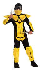 Yellow Ninja Costume Assassin Japanese Warrior Cospaly Anime Child Size Sm 4-6