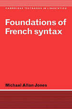 Foundations of French Syntax (Cambridge Textbooks in Linguistics)-ExLibrary