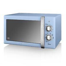 Swan Sm22130bln Blue 20 Litre Retro Manual Microwave