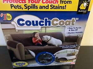 CouchCoat™ Furniture Cover in Brown/Cream As Seen on TV