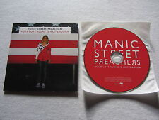 MANIC STREET PREACHERS Your Love Alone Is Not 2007 European collectors CD single