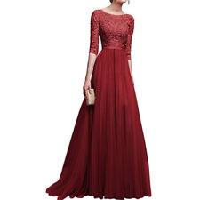 Abendkleid Weinrot Lang In Brautjungfern Besonderne Anlasse Artikel Gunstig Kaufen Ebay