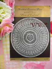 """Vintage Viennese Lace Knitting Pattern Tea & Dinner Cloth """"Rose Of England"""""""