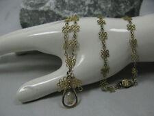 Filigranes Collier / Halskette / Kette 925 Silber vergoldet mit Flussperlen