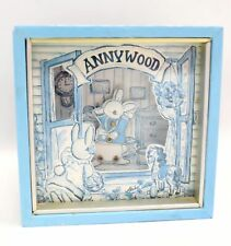 "Vintage ANNYWOOD Dancing Rabbit Music Box ""Over The Rainbow"" Working - R27"