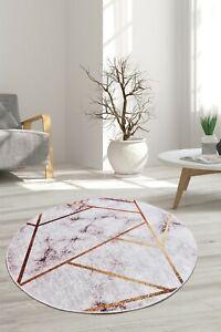 NEW CARPET Non-slip Circle Rugs living room 100cm Round Mat Washable LoungeROom