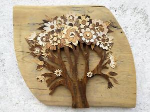 Tree of Life art Barnwood wall art Reclaimed wood wall art Birch Bark rustic art
