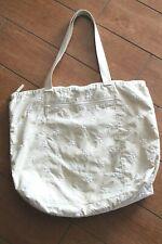 Le Sportsac Tan Embroidered Flowers Medium Travel Tote Shoulder Bag & Wallet Set