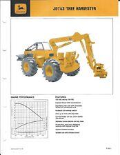 Equipment Brochure John Deere Jd 743 Logging Tree Harvester C1976 E4643
