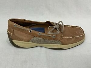 Sperry Topsider Intrepid Boat Shoe 11 M Brown Leather 2-Eye Lace Up