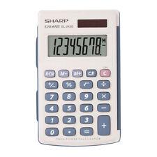 Sharp EL243SB Handheld Basic Pocket Calculator, 8 Digit Twin Power