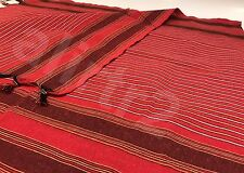 Turkish Peshtmeal towel , cotton Red with stripes ,gym,beach,spa,table cloth