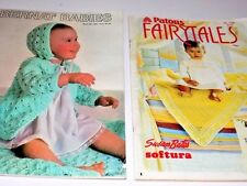 Vintage Chic LOT 2 Crocheting Knitting Pattern Book BERNANT BABIES Free Shipping