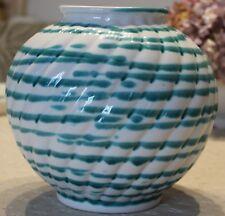 Gmundner Keramik Kugelvase, grüngeflammt, groß, neu