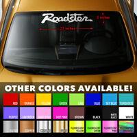 "ROADSTER MIATA MX-5 MAZDA Windshield Banner Premium Vinyl Decal Sticker 23""x5"""