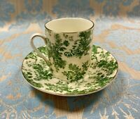 Green Baroque Demitasse Cup and Saucer made in China for 'A Special Place'