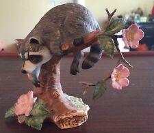 "Lenox Porcelain ""WOODLAND ANIMALS"" Twilight Mischief Raccoon Figurine 1990"