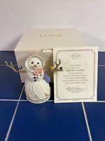 Lenox Little Miss Snowflake Figurine with COA Christmas