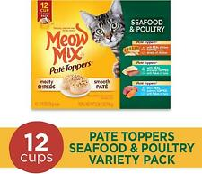 Meow Mix Pate Toppers Seafood And Poultry Variety Pack Wet Cat Food