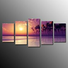HD Canvas Printing Wall Art Pictures Painting Palm Tree Beach Sunshing No Frame