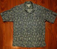 Tori Richard 100% Cotton Lawn Palm Trees Hawaiian Shirt Men's Size XL