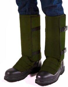 Crackshot Men's Snake Bite Proof Guardz Gaiters, Olive Green, Multiple Sizes