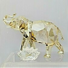 New ListingSwarovski Crystal Figurine Cinta Elephant 2013 Le Scs Annual Trunk Up GoldenSand