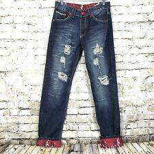 """Mens Jeans by BT Play Straight Leg Factory Distressed 100% Cotton 28""""W X 31.5""""L"""