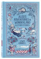 Alice In Wonderland Alice's Adventures Leather Bound Book by Lewis Carroll NEW