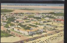 Postcard FT FORT LAUDERDALE FL  Birch Estate Area Bird's Eye Aerial view 1940's