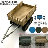 Vehicle Model Upgrade Trailer Kit For WPL B14/16/24 Military Truck 1/16 RC Car