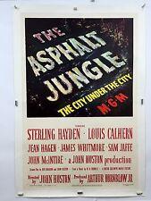 ASPHALT JUNGLE Movie Poster 1950 One Sheet 1SH LINENBACKED Marilyn Monroe