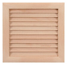 """WOOD Air Vent Grille Cover 150x150mm (6x6"""") WOODEN Ventilation Grill Cover"""