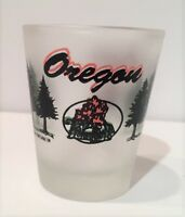 Shot Glass Oregon Frosted