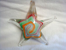 Multi-Color GLASS STARFISH PAPERWEIGHT