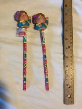 New! CABBAGE PATCH KIDS DOLL 1984 SET OF 2 PENCIL TOPPERS AND PENCILS